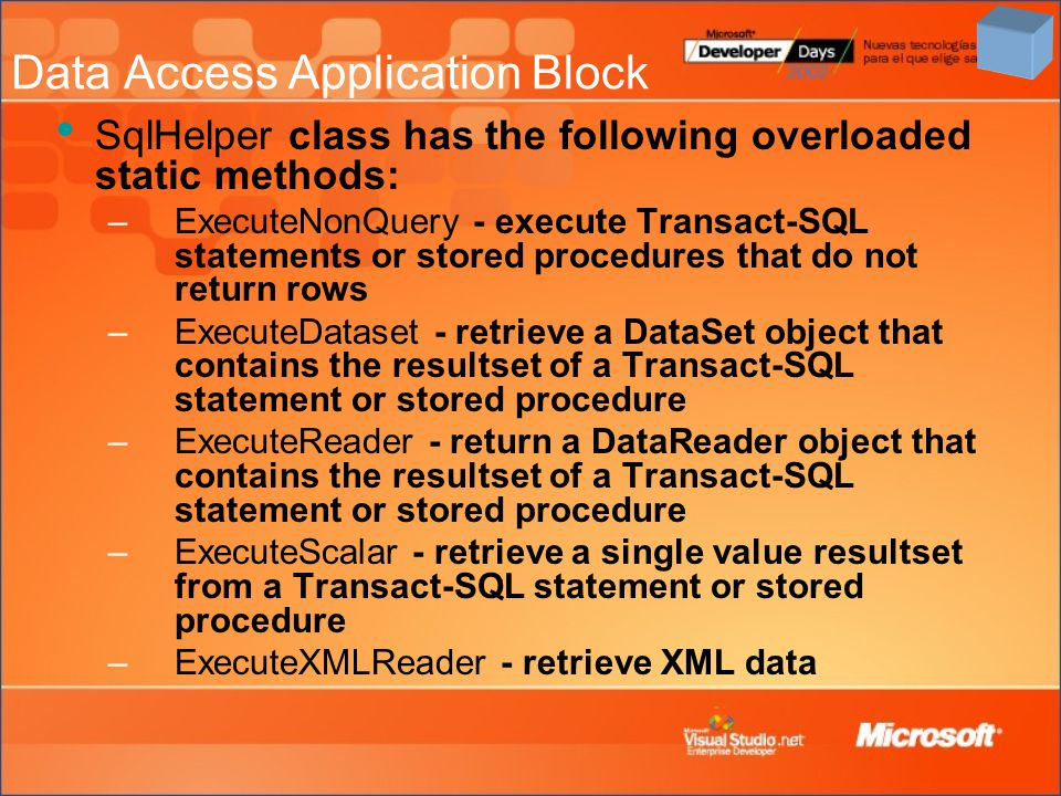 Data Access Application Block