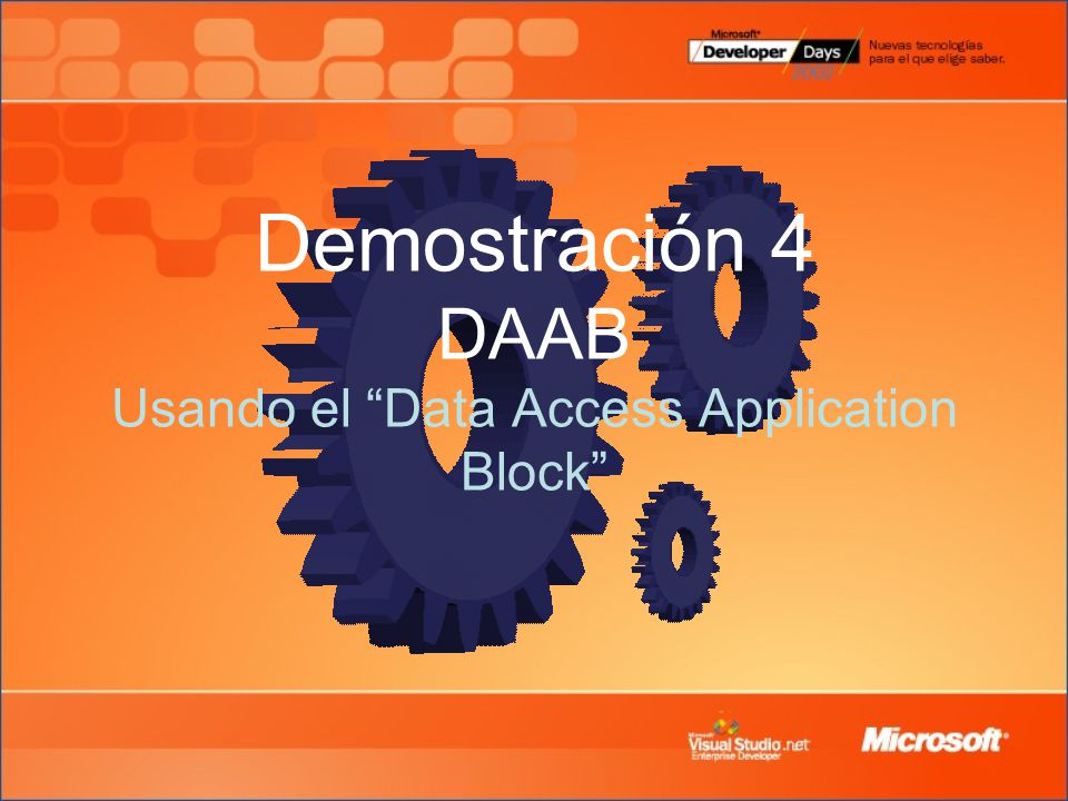 Demostración 4 DAAB Usando el Data Access Application Block