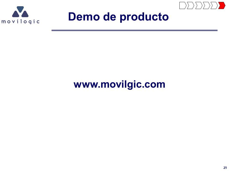 Demo de producto www.movilgic.com