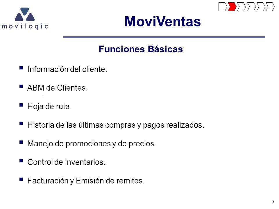 MoviVentas Funciones Básicas Información del cliente. ABM de Clientes.