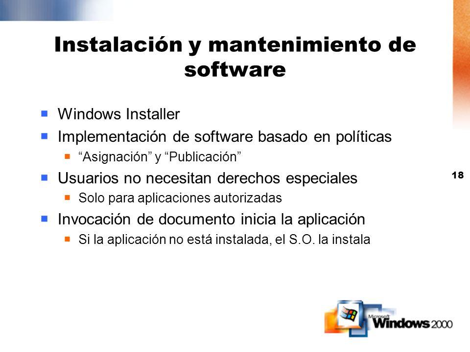 Instalación y mantenimiento de software