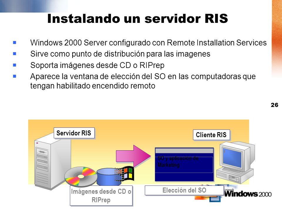 Instalando un servidor RIS