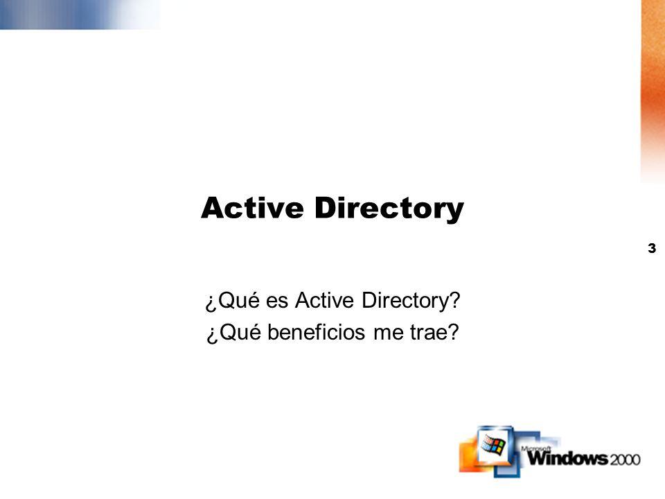 ¿Qué es Active Directory ¿Qué beneficios me trae