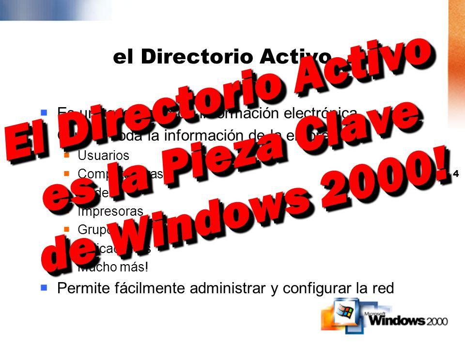 El Directorio Activo es la Pieza Clave de Windows 2000!