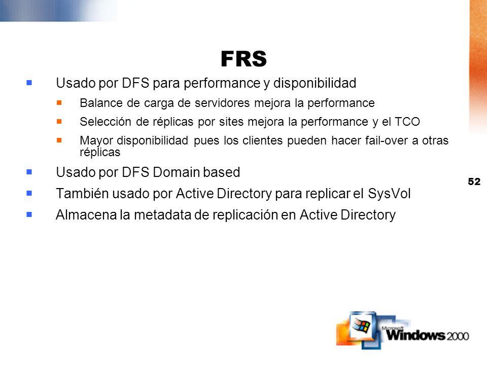FRS Usado por DFS para performance y disponibilidad
