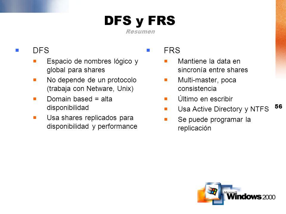 DFS y FRS Resumen DFS FRS