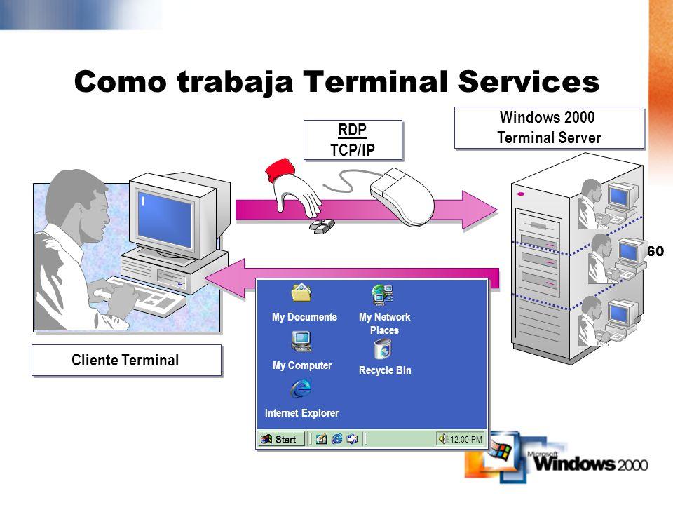 Como trabaja Terminal Services