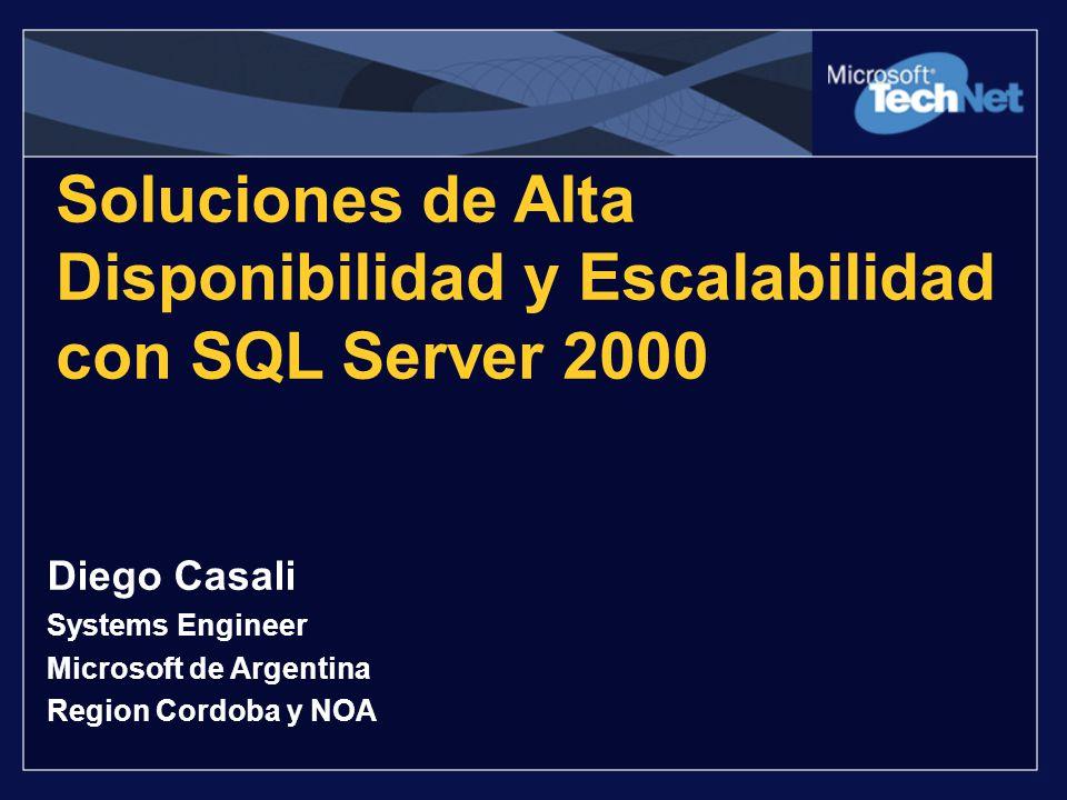 Soluciones de Alta Disponibilidad y Escalabilidad con SQL Server 2000