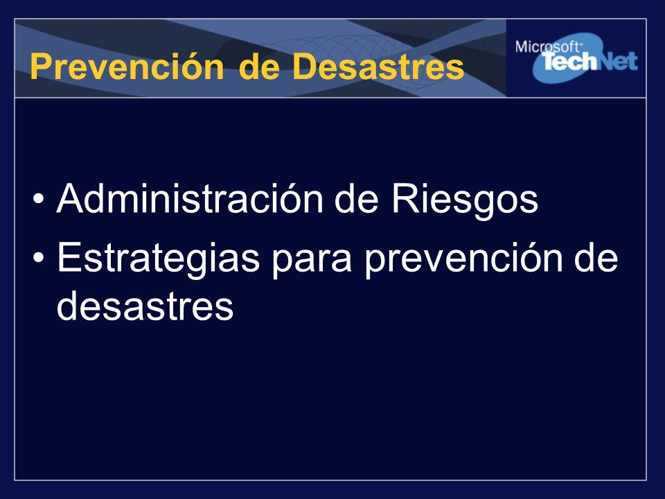 Prevención de Desastres