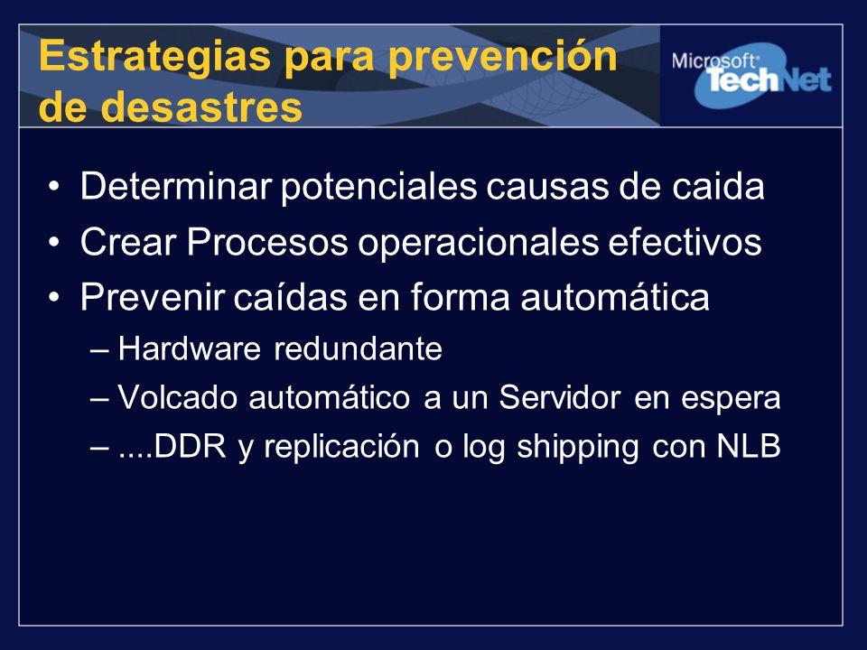Estrategias para prevención de desastres