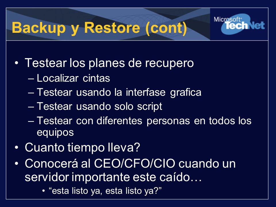 Backup y Restore (cont)