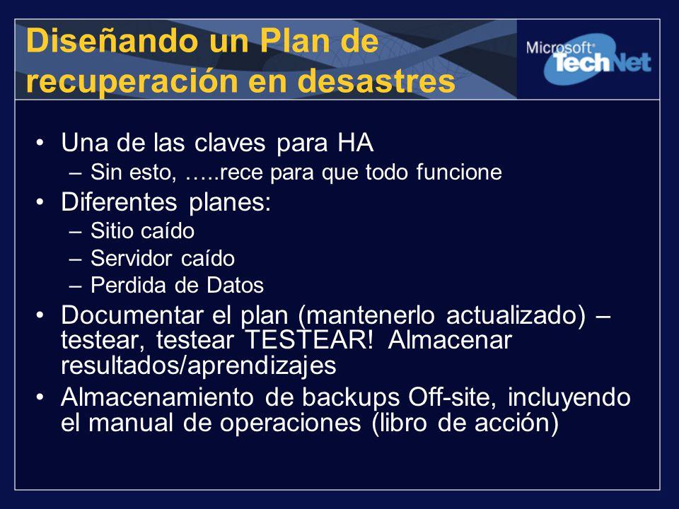 Diseñando un Plan de recuperación en desastres