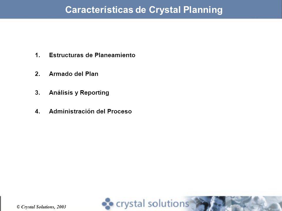 Características de Crystal Planning