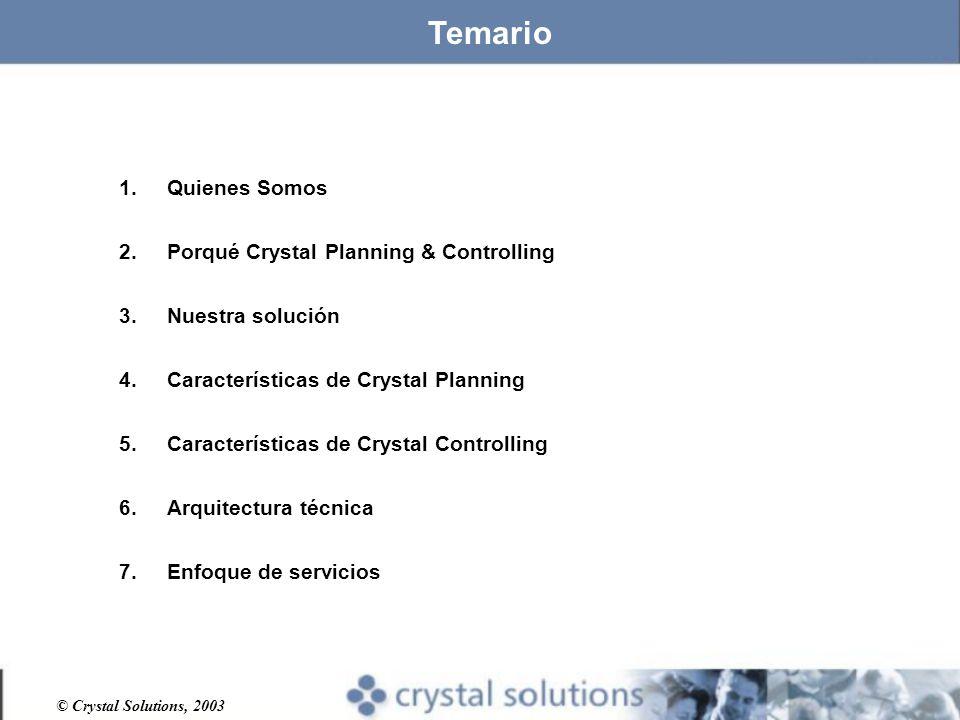 Temario Quienes Somos Porqué Crystal Planning & Controlling