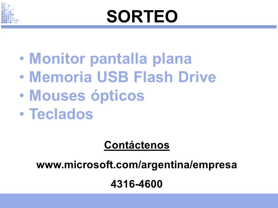 SORTEO Monitor pantalla plana Memoria USB Flash Drive Mouses ópticos