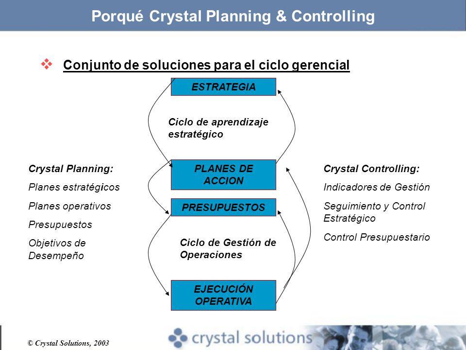 Porqué Crystal Planning & Controlling