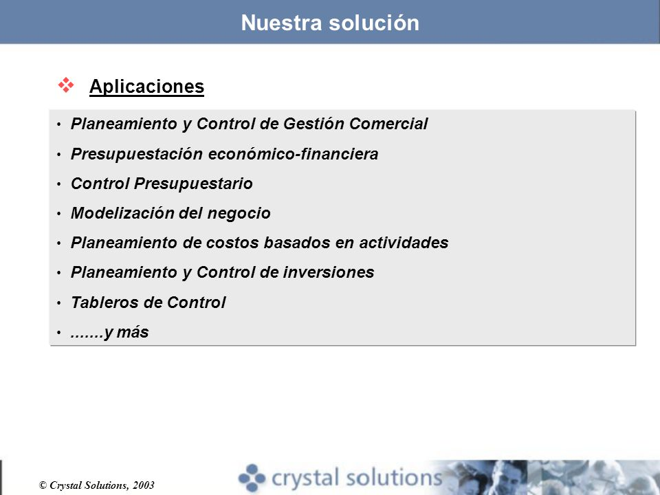 Nuestra solución Aplicaciones