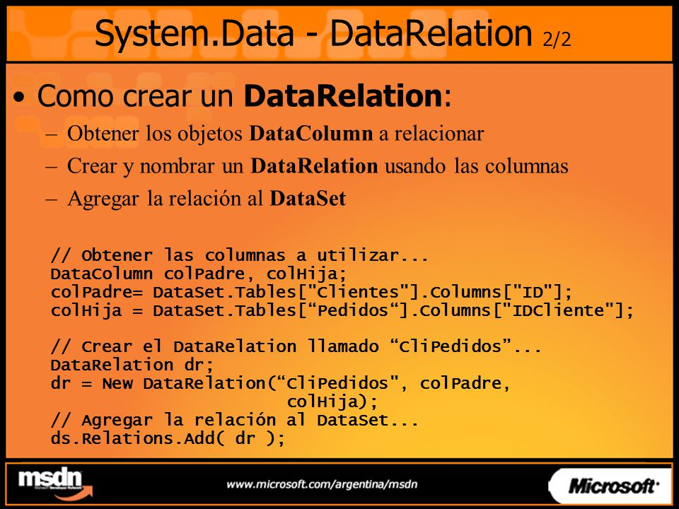 System.Data - DataRelation 2/2