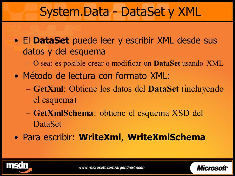 System.Data - DataSet y XML