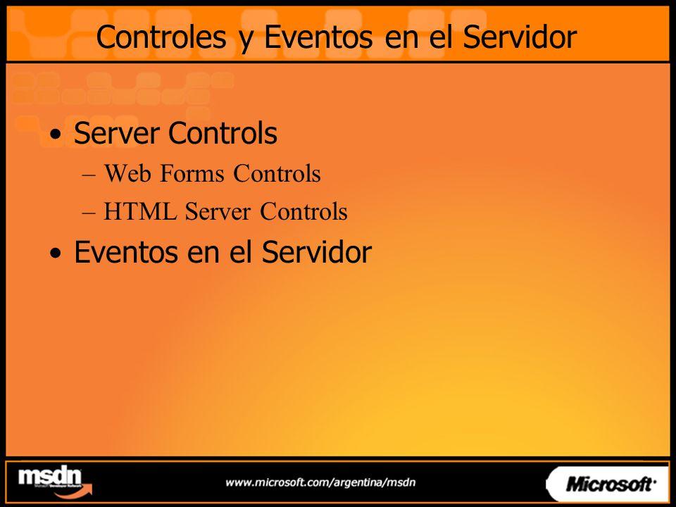 Controles y Eventos en el Servidor