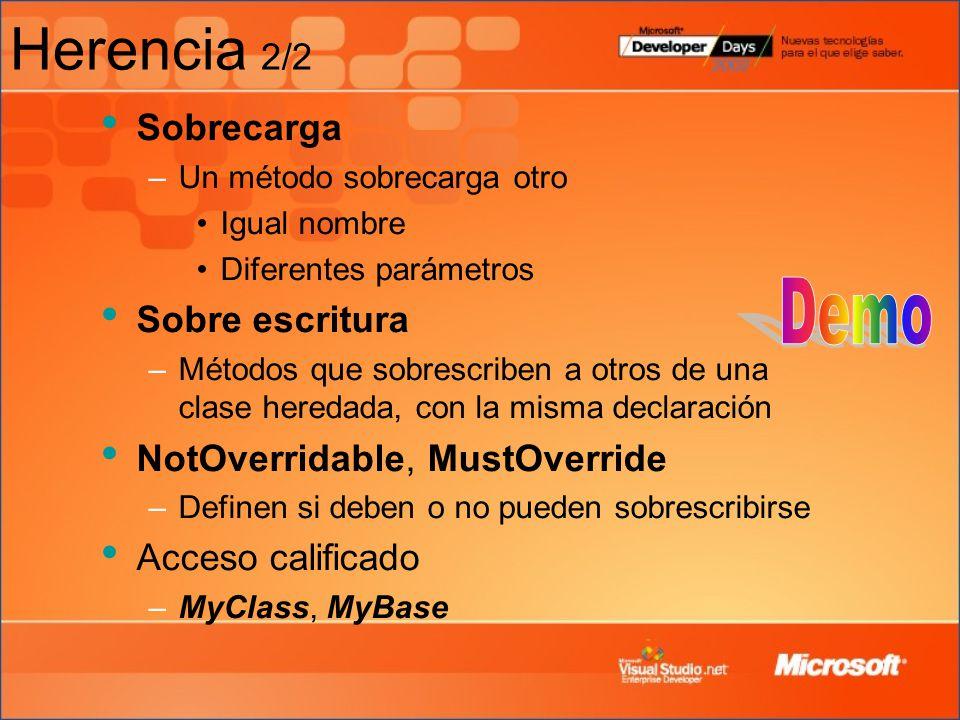 Herencia 2/2 Demo Sobrecarga Sobre escritura