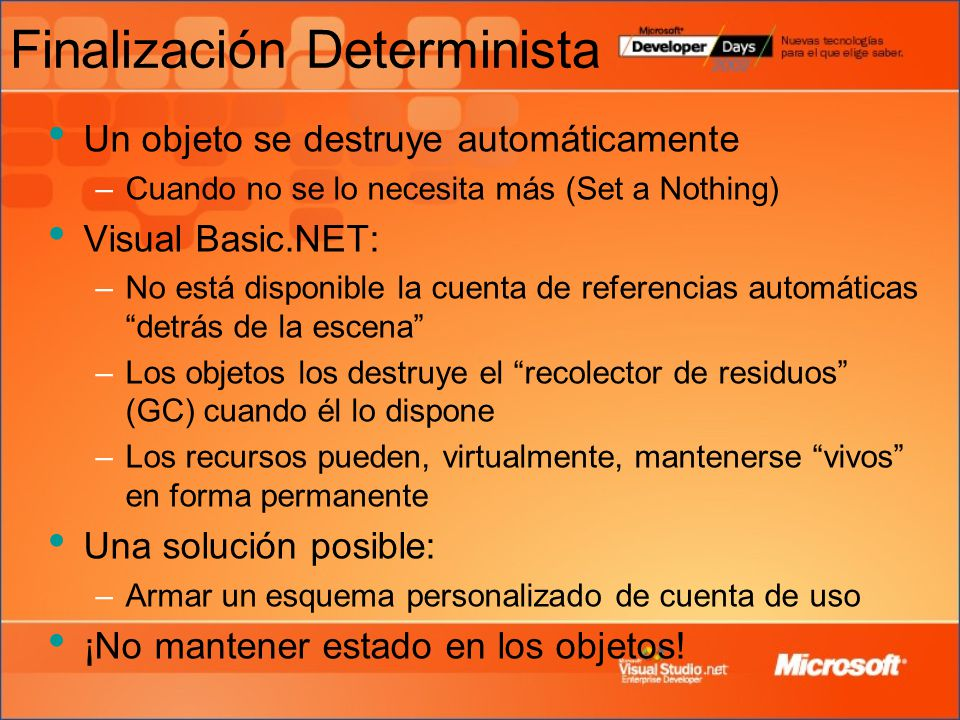 Finalización Determinista