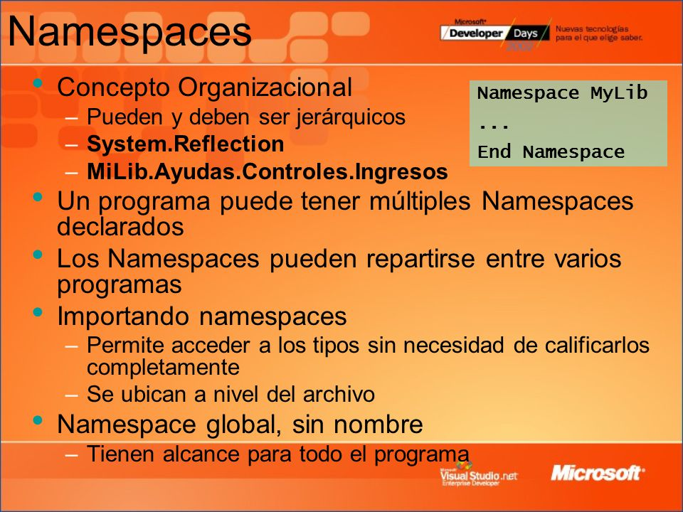 Namespaces Concepto Organizacional