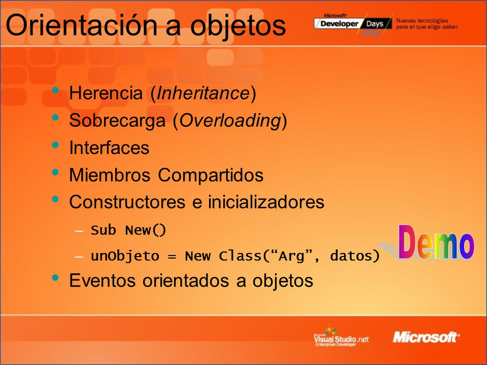 Orientación a objetos Demo Herencia (Inheritance)