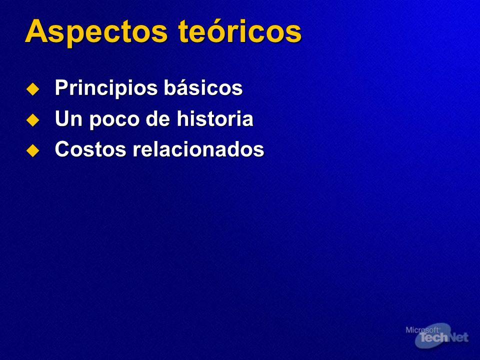 Aspectos teóricos Principios básicos Un poco de historia