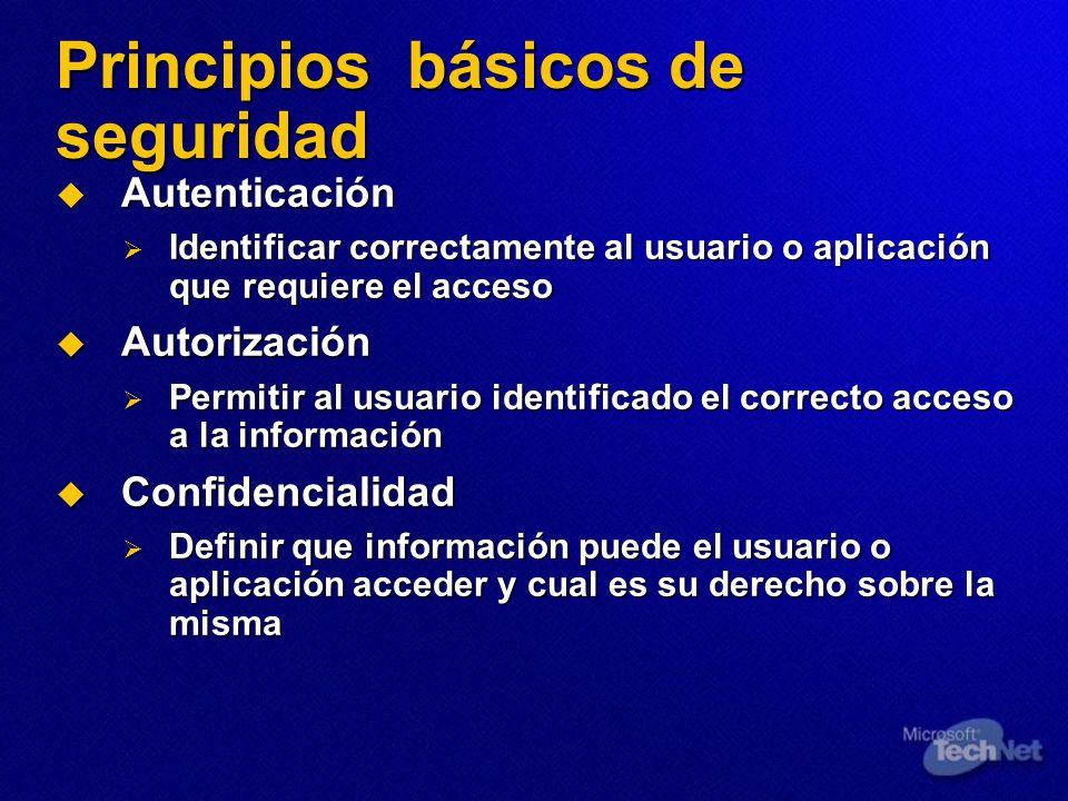 Principios básicos de seguridad