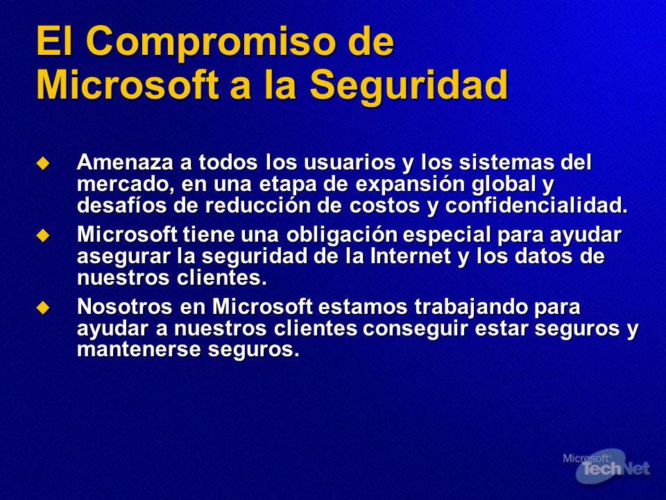 El Compromiso de Microsoft a la Seguridad