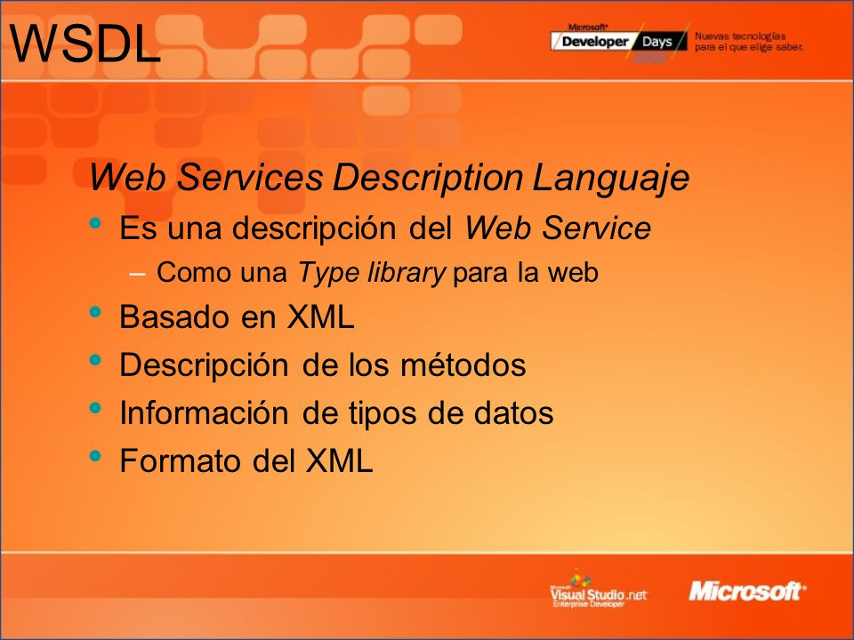 WSDL Web Services Description Languaje