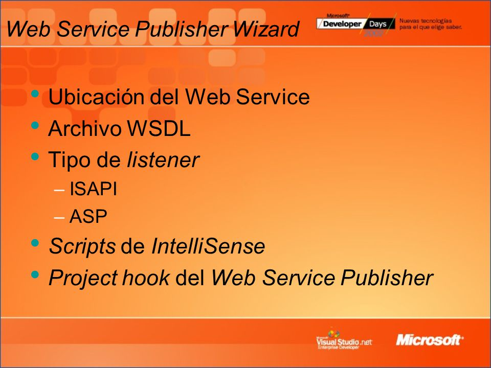 Web Service Publisher Wizard