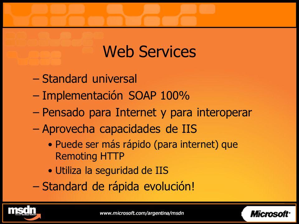 Web Services Standard universal Implementación SOAP 100%