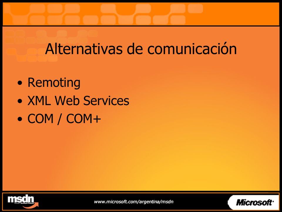 Alternativas de comunicación