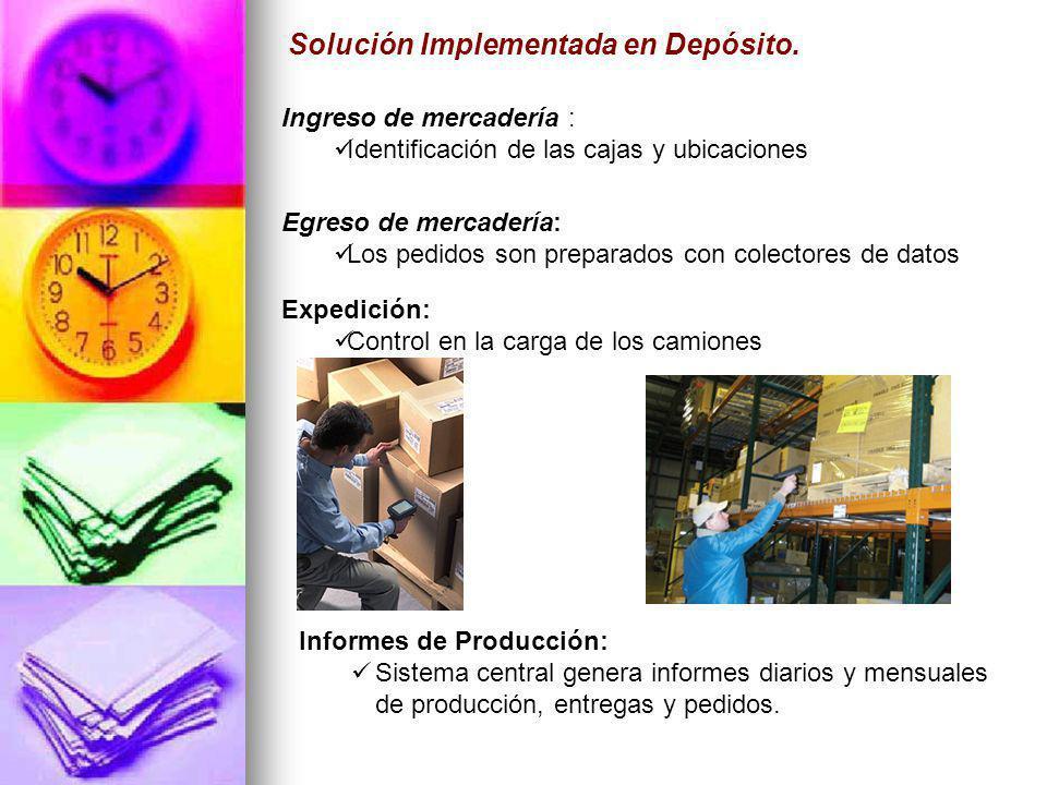 Solución Implementada en Depósito.