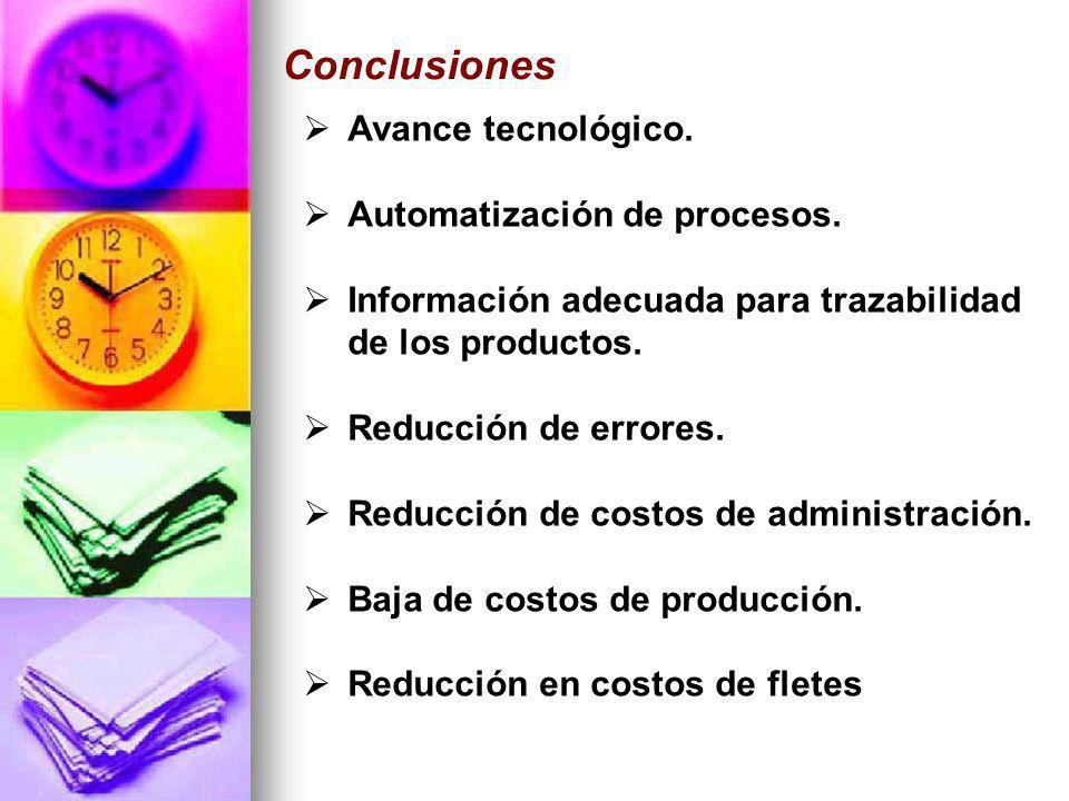 Conclusiones Avance tecnológico. Automatización de procesos.