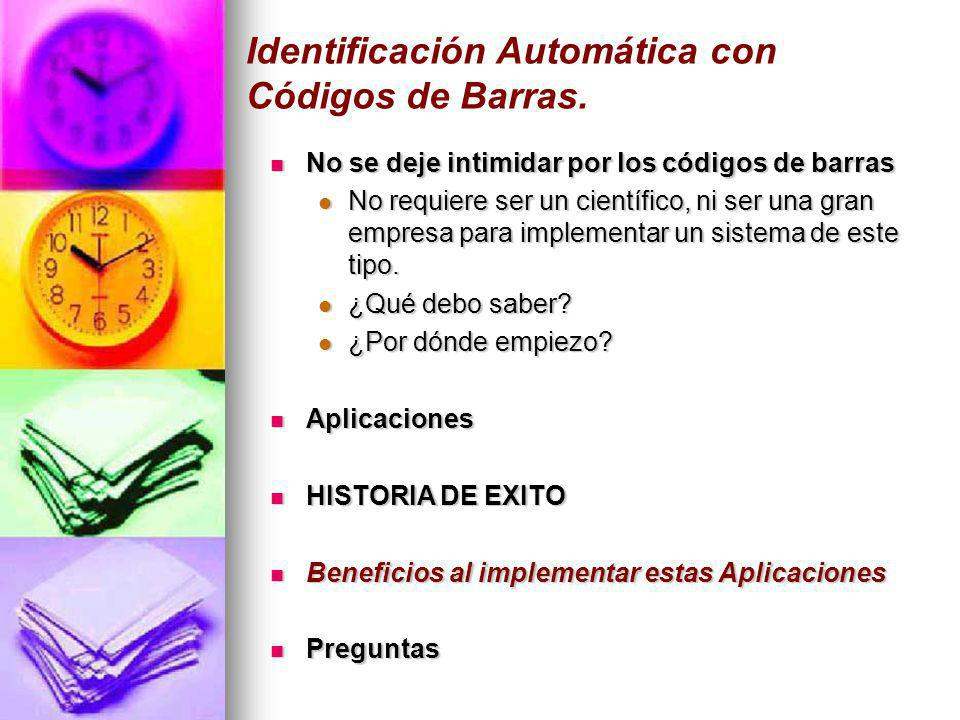 Identificación Automática con Códigos de Barras.
