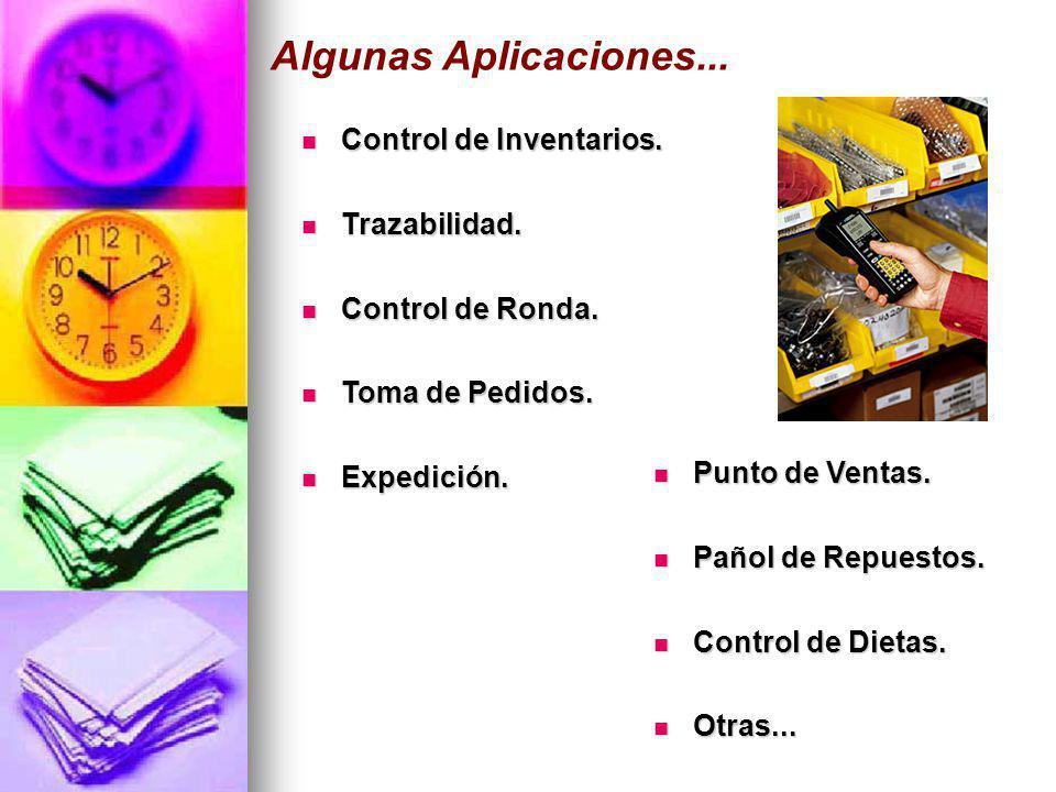 Algunas Aplicaciones... Control de Inventarios. Trazabilidad.