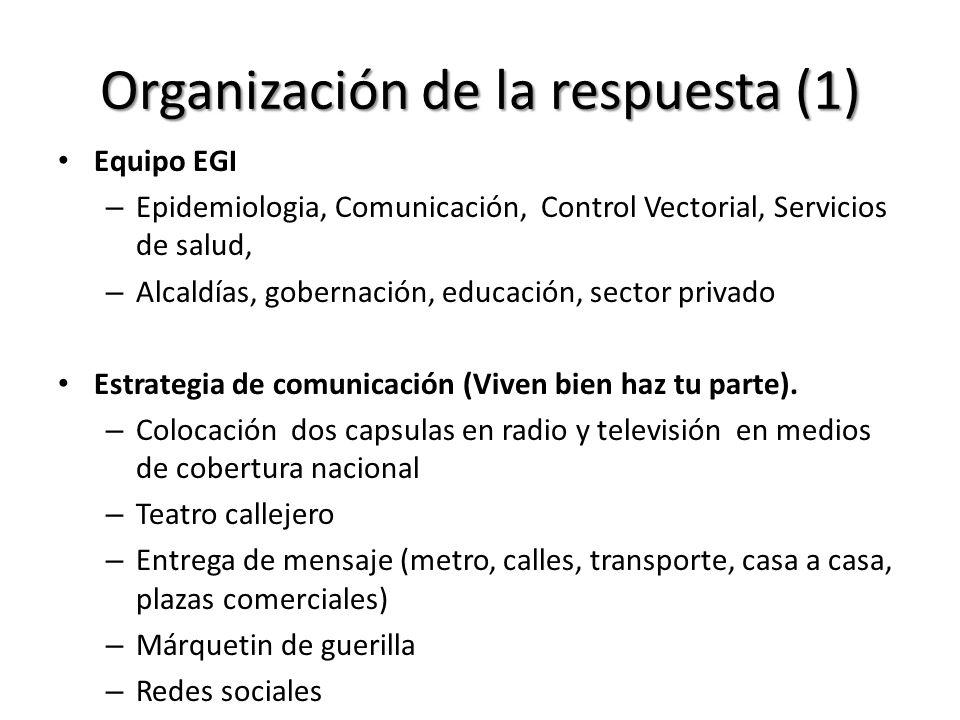 Organización de la respuesta (1)