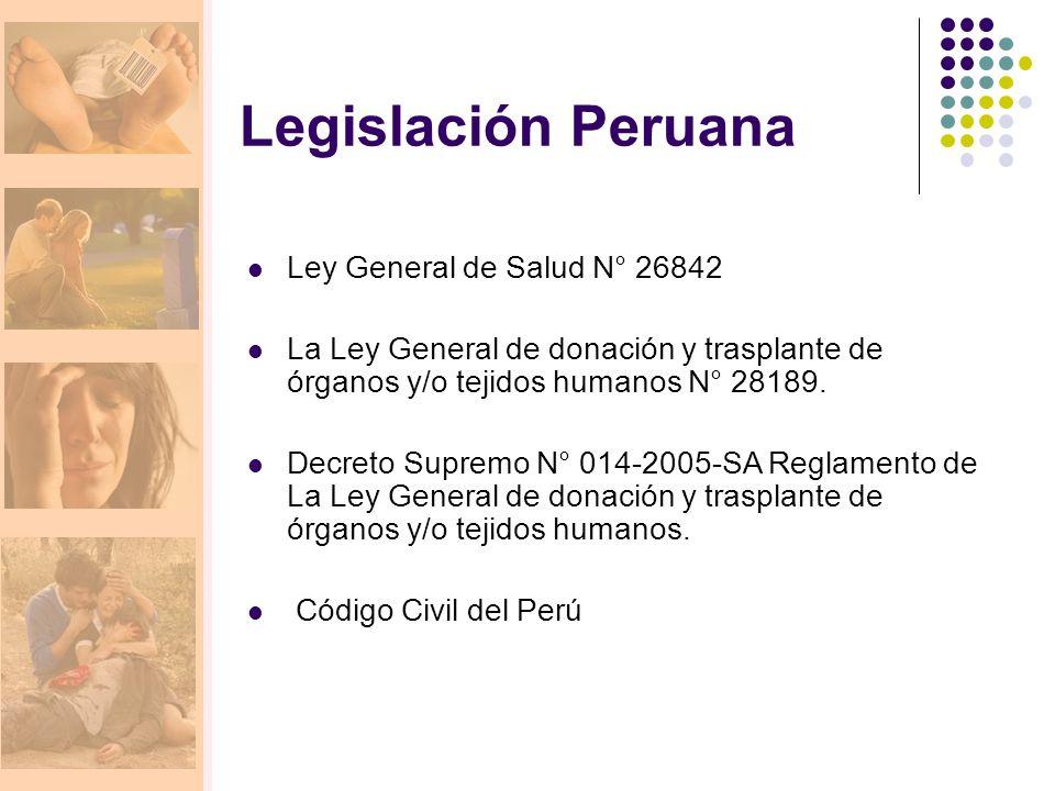 Legislación Peruana Ley General de Salud N° 26842