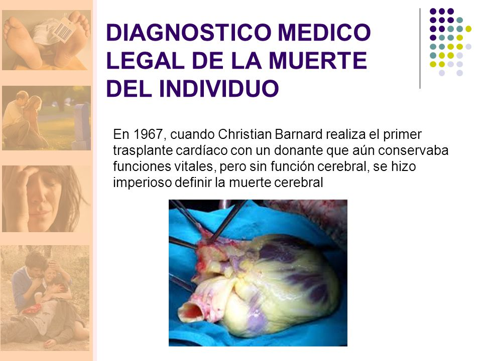 DIAGNOSTICO MEDICO LEGAL DE LA MUERTE DEL INDIVIDUO