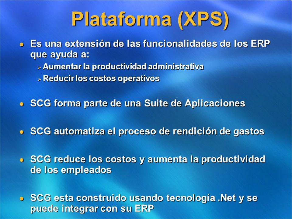 Plataforma (XPS) Es una extensión de las funcionalidades de los ERP que ayuda a: Aumentar la productividad administrativa.