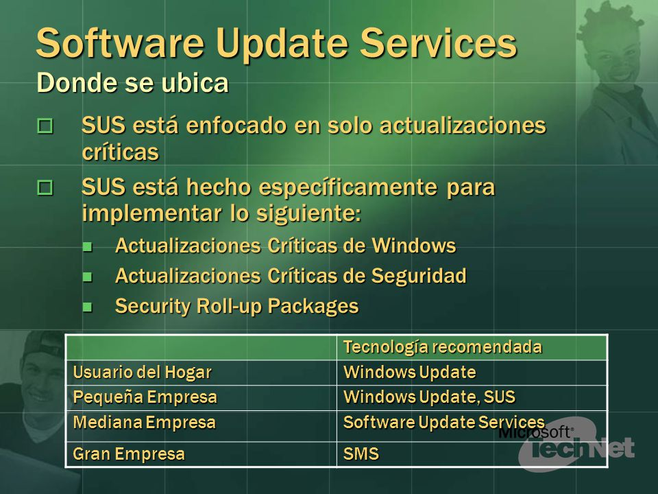 Software Update Services Donde se ubica