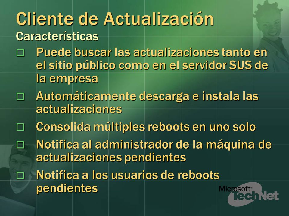 Cliente de Actualización Características