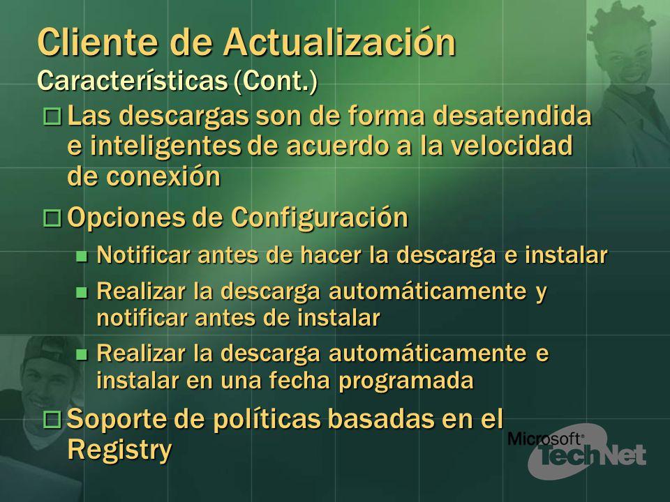 Cliente de Actualización Características (Cont.)