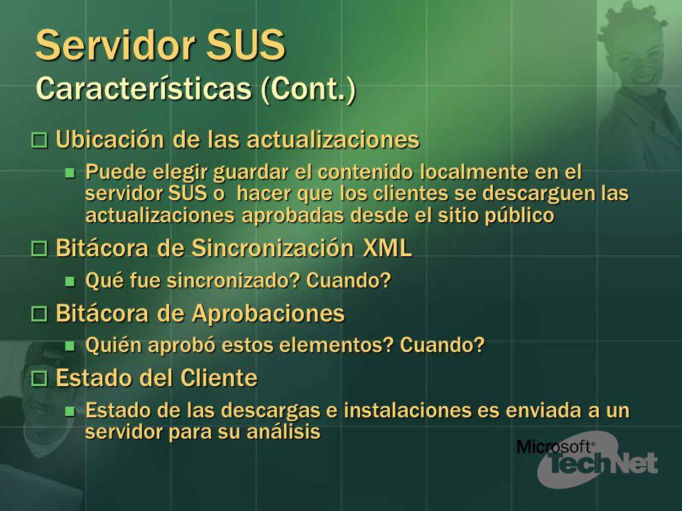 Servidor SUS Características (Cont.)