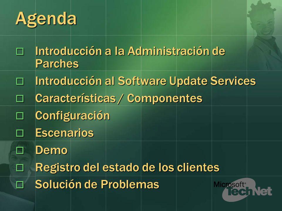 Agenda Introducción a la Administración de Parches