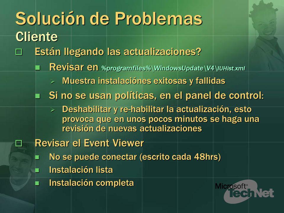 Solución de Problemas Cliente