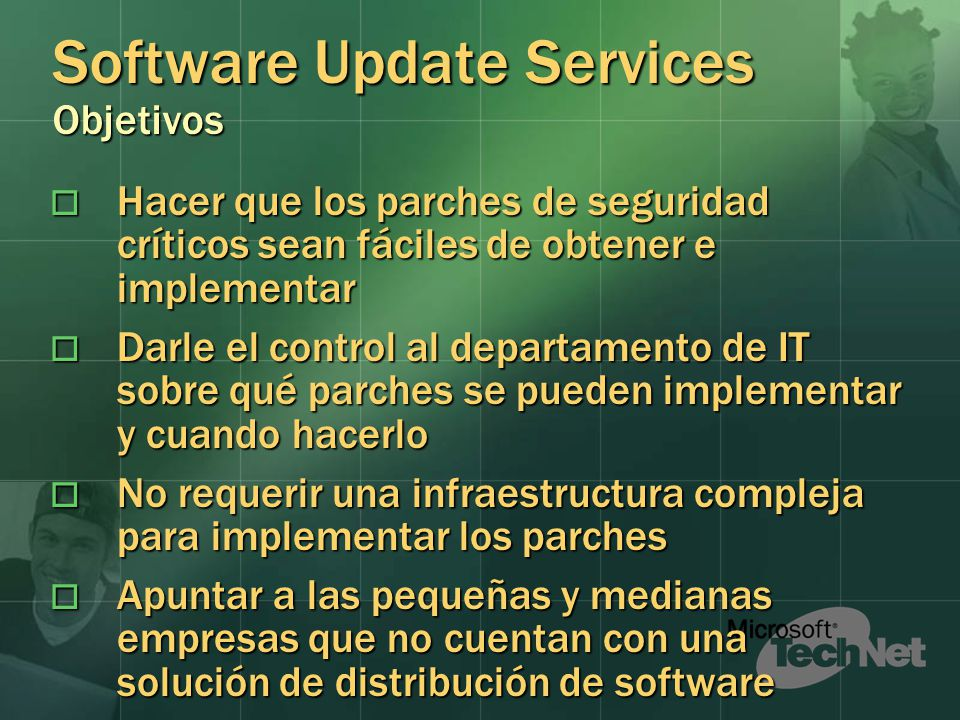 Software Update Services Objetivos